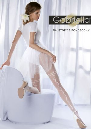 15 Denier Bridal Tights with Ribbon Seam, Gabriella Charme